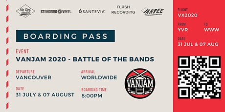 VANJAM 2020 (2-Part Finale Jul 31 & Aug 7 at 8pm) tickets