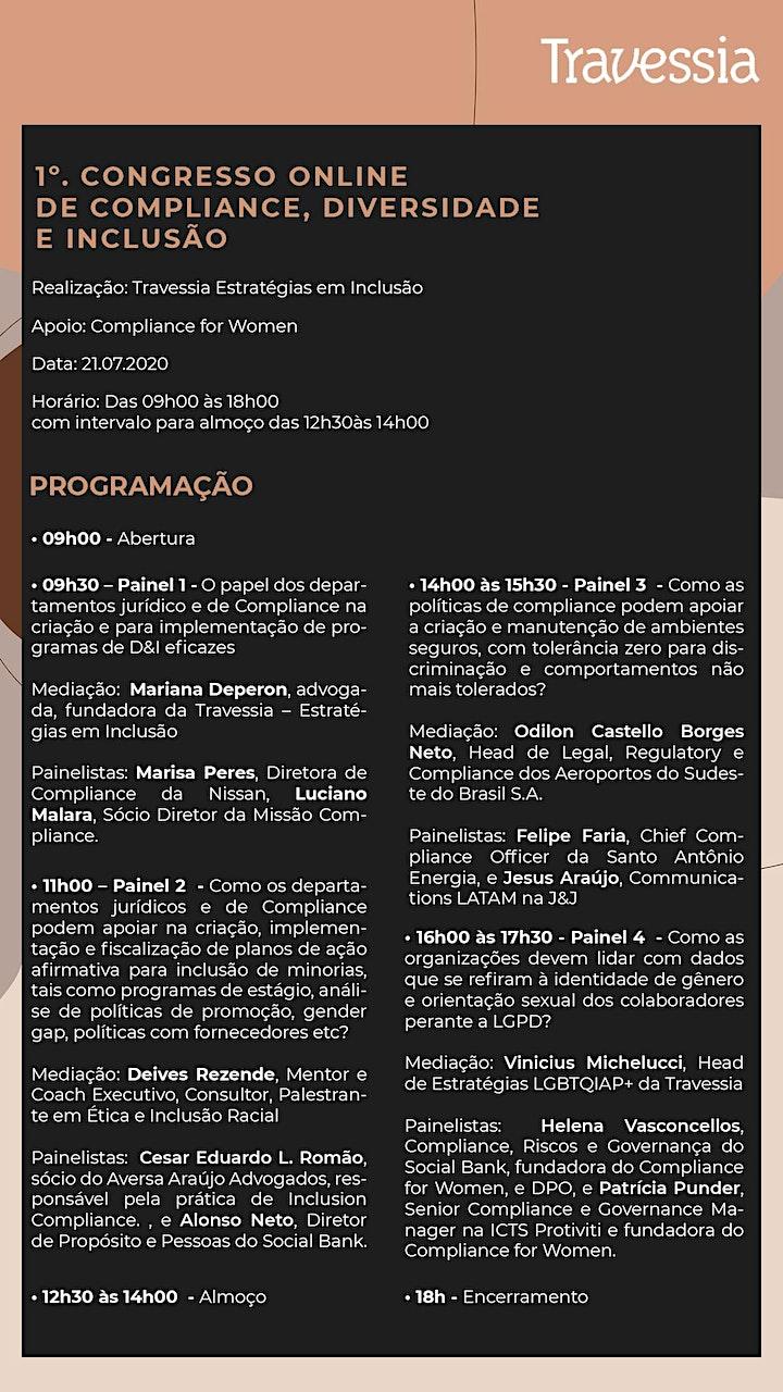 Imagem do evento 1º  CONGRESSO ONLINE SOBRE COMPLIANCE E D&I (DIVERSIDADE E INCLUSÃO)