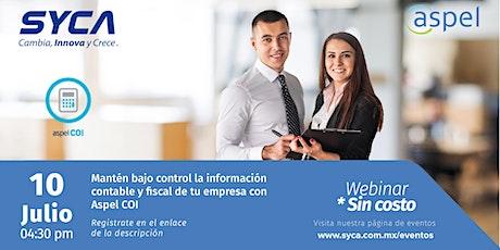 Controla la información contable y fiscal de tu empresa con Aspel COI entradas