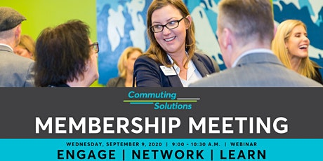 September 9, 2020 Commuting Solutions Membership Meeting tickets