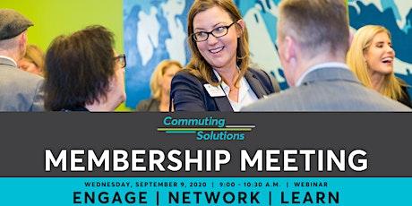 September 9, 2020 Commuting Solutions Membership Meeting tickets