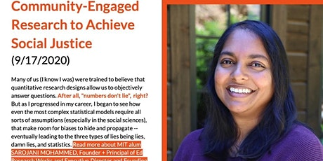 Community-Engaged Research to Achieve Social Justice tickets