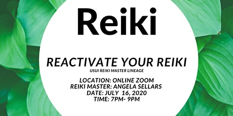 Reactivate Your Reiki tickets
