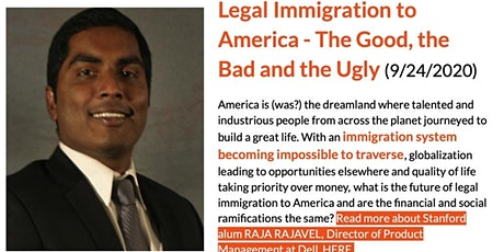 Legal Immigration to America - The Good, the Bad and the Ugly tickets