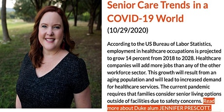 Senior Care Trends in a COVID-19 World tickets