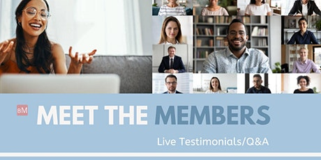 Meet the Meditation Members: Live Testimonials/Q&A tickets