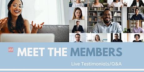 Meet the Meditation Members: Live Testimonials/Q&A tickets