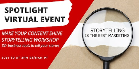 Make Your Content Shine Storytelling Workshop tickets