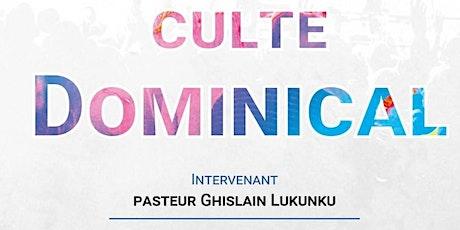Culte dominical CRFEV - Inscription billets