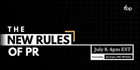 The New Rules of PR - London tickets