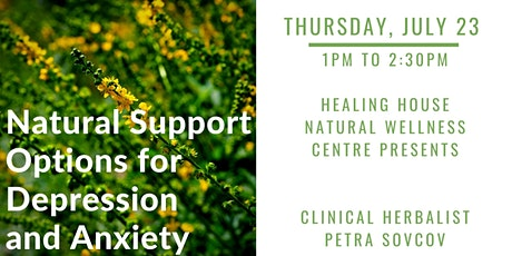 Natural Support Options for Depression and Anxiety tickets