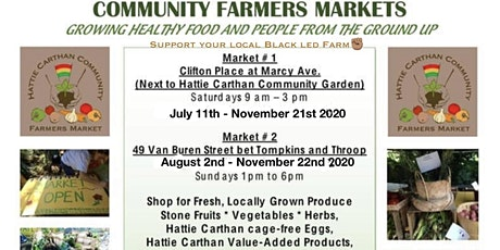 2020 Hattie Carthan Sat. Farmers Market Season Begins tickets