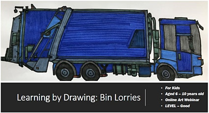 Construction Art for Kids - Learning by Drawing Bin Lorries! Art Webinar tickets