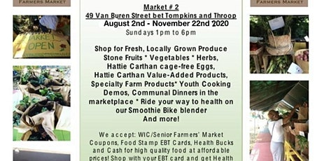 Hattie Carthan 2020 Sunday Farmers Market tickets