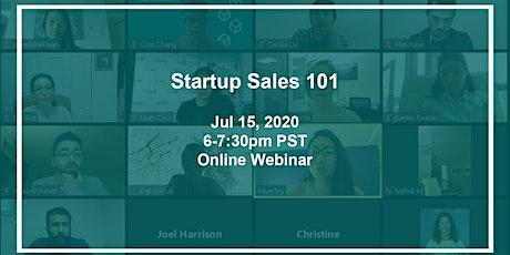 Startup Sales 101 tickets