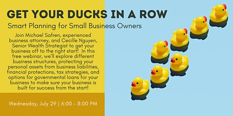 Get Your Ducks in a Row: Smart Planning for Small Business Owners tickets