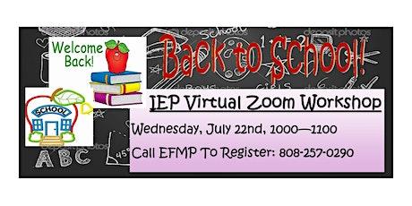 IEP Virtual Zoom Workshop tickets