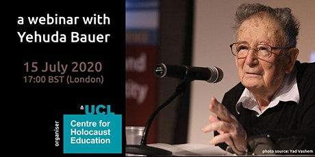 An evening with Prof Yehuda Bauer tickets