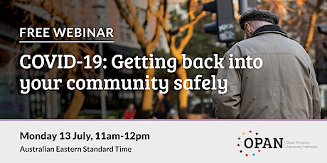 COVID-19: Getting back into your community safely tickets