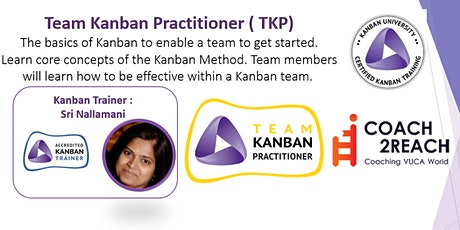 Virtual Team Kanban Practitioner (TKP) Certification - Weekday Class tickets