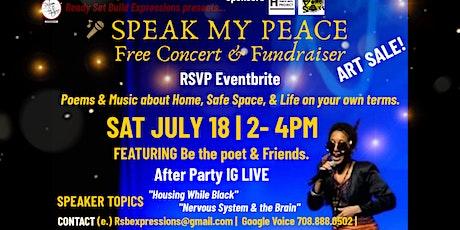 SPEAK MY PEACE Concert & Fundraiser tickets
