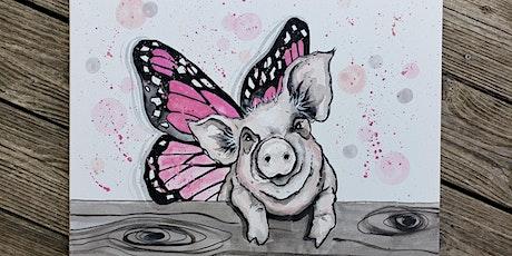 PiggyTales Virtual Paint Party $25 tickets