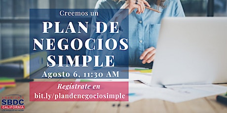 Plan de Negocios Simple tickets