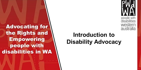 Introduction to  Disability Advocacy tickets