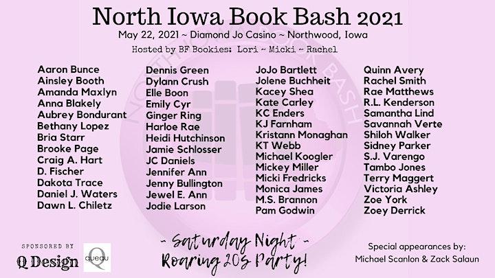 North Iowa Book Bash - NEW DATE: May 22, 2021 image