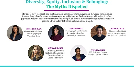 Diversity, Equity, Inclusion & Belonging: The Myths Dispelled Tickets
