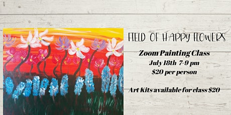 Field of Happy Flowers  painting class tickets