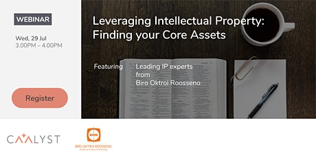 Leveraging Intellectual Property: Finding your Core Assets tickets