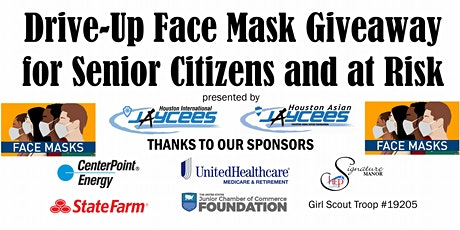 Volunteer Event: Drive-Up Face Mask Giveaway for Senior Citizens & At-Risk tickets