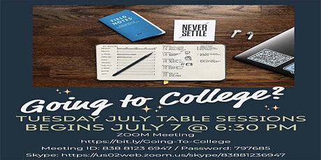Going to College Table Sssions ingressos