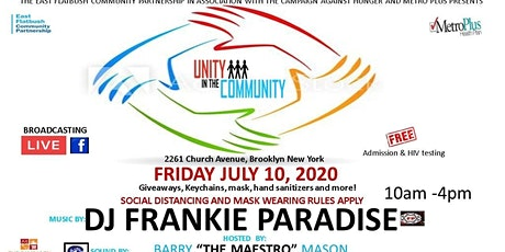 Free Outdoor Community Event Giveaways Dj Frankie Paradise tickets