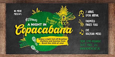 A Night In Copacabana tickets