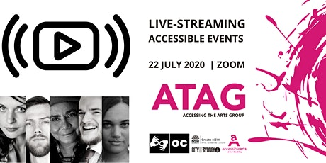 Live-Streaming Accessible Events | ATAG  Online 22 July tickets