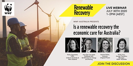 Is a renewable recovery the economic cure for Australia? tickets