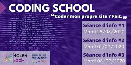 """CODING SCHOOL 15 [Séance d'info] """"Le meilleur moyen d'apprendre le code"""" billets"""