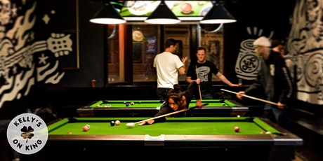 BOOK THE POOL TABLES @ KELLYS - JULY 8-14 tickets