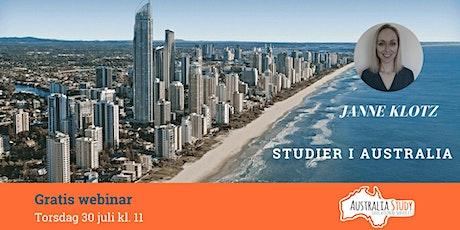 Gratis nettbasert informasjonsmøte: Studier i Australia tickets
