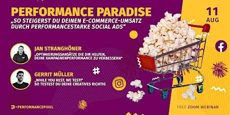 Mehr Umsatz im E-Commerce durch performancestarke Social Media Ads! Tickets