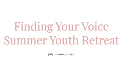 Finding Your Voice Summer Youth Retreat tickets