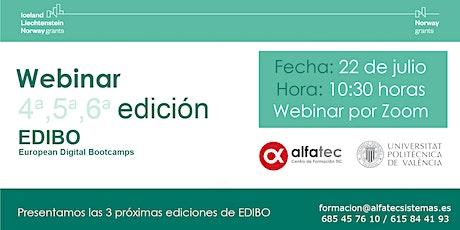 Webinar EDIBO de Encargado de Almacén y FullStack Mean entradas