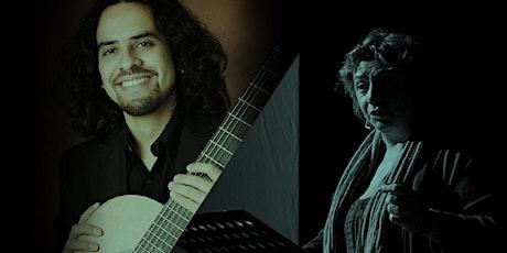 SHAKESPEARE E CERVANTES Carla Manzon voce, Josué Gutiérrez chitarra biglietti