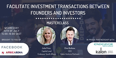 Facilitate investment between founders & investors - AfricArena x Facebook tickets
