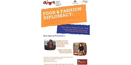 FOOD & FASHION DIPLOMACY: Introducing Indonesia in Australia tickets