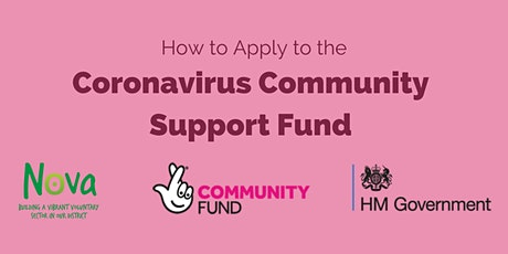 How to Apply to the Coronavirus Community Support Fund: Webinar tickets