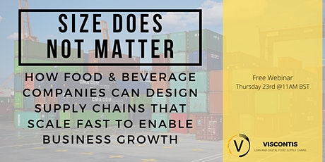 Size Does Not Matter: A Food Supply Chain Case Study tickets