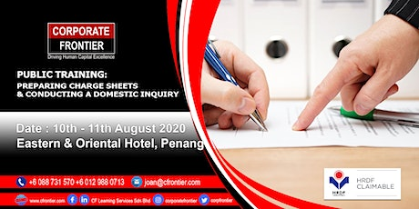 Public Training: Preparing Charge Sheets & Conducting a Domestic Inquiry tickets